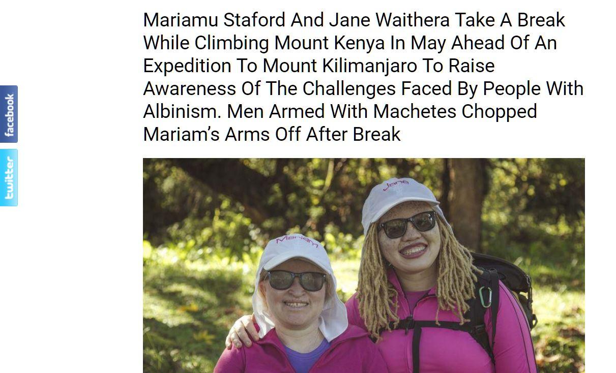 Mariamu Staford And Jane Waithera Take A Break While Climbing Mount Kenya