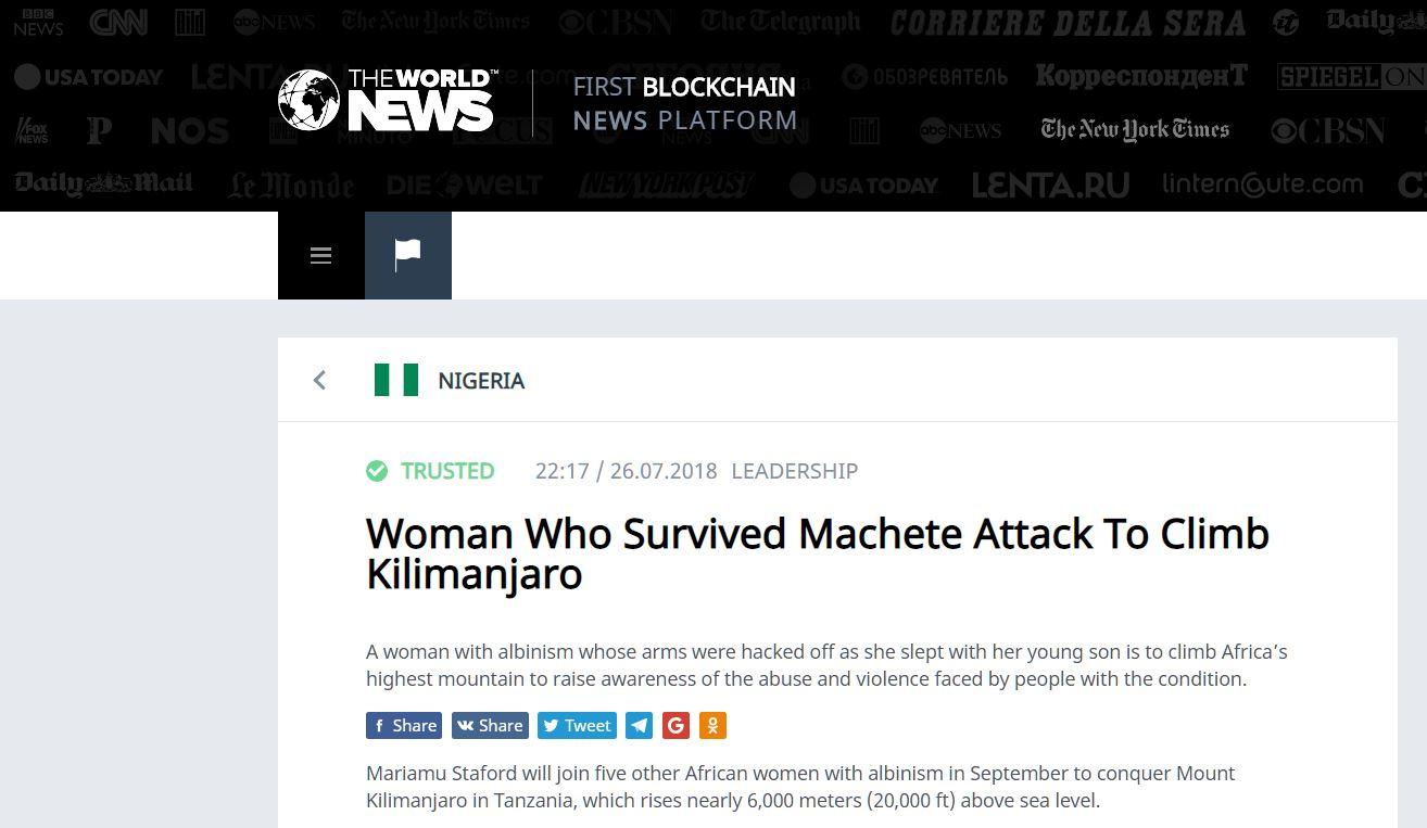 Woman Who Survived Machete Attack To Climb Kilimanjaro